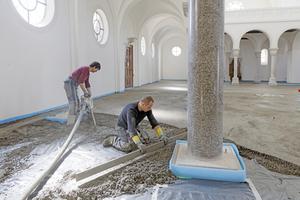 Auch an Säulenrändern, Dehn-und Schnittfugen waren später keine Ausbesserungsarbeiten nötig