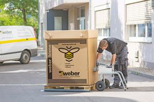 """Für kleine bis mittlere Bauvorhaben steht die """"weber biene"""" zur Verfügung"""
