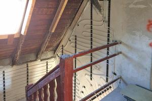 """Ein 1703 in Koblenz erbautes Fachwerkhaus erhielt eine Wandflächenheizung, wurde von innen mit dem Dämmputz """"Tri-O-Therm M"""" gedämmt und zu drei Studentenwohnungen umgebaut<span class=""""bildnachweis"""">Foto: quick-mix</span>"""