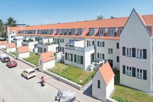 Aus der typischen 1920er-Jahre-Siedlung in Frankfurt-Riederwald ist nach Plänen des Büros Christoph Mäckler Architekten ein schickes, modernes Stadtquartier geworden