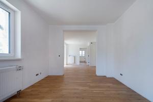 Die renovierten Wohnungen kurz vor der Übergabe an die neuen Mieter. Entstanden sind moderne helle Räume mit zeitgemäßem Wohnkomfort