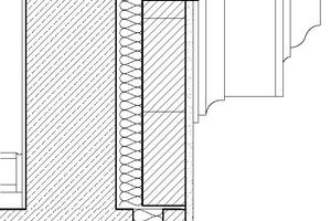 Fassadenschnitt, Maßstab 1:10