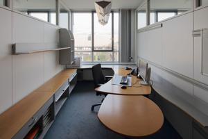 Vorzustand: je fünf solcher kleinen Büros wurden zu einem großen zusammengefasst