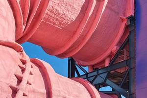Nach Abschluss der ersten Sanierungsphase Ende vergangenen Jahres zeigt sich die Röhre des Umlauftanks 2 der TU Berlin wieder in einem frischen Rosa Foto: Philip Lohöfener / Wüstenrot Stiftung