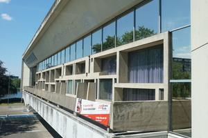 Blick auf den Sitzungstrakt vom Balkon des Ratssaales aus