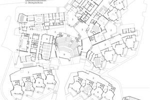 Grundriss Erdgeschoss, Maßstab 1:1000 Zeichnung: Pfeiffer . Ellermann . Preckel Architekten und Stadtplaner
