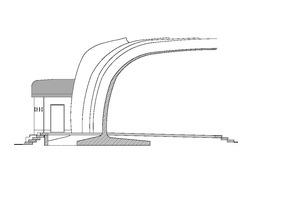 Schnitt A-A, Maßstab 1:100 Zeichnung: Architekturbüro Nessler