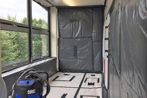 So macht man es richtig: Lokale Abschottungen bei einer Asbestsanierung