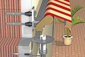 Beispiel für eine Befestigungslösung mit thermisch getrennter Schraube