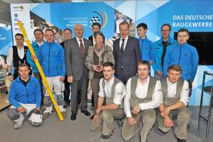 Vor zwei Jahren auf dem Stand des Zentralverbandes des Deutschen Baugewerbes auf der BAU 2017 in München⇥Foto: Messe München
