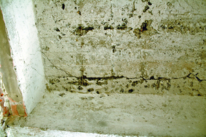 Betonschäden im Stellwerk Ahlhorn