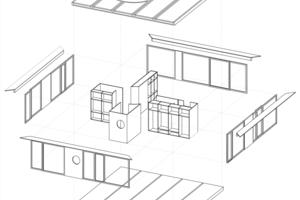 """Isometrie, ohne Maßstab<span class=""""bildnachweis"""">Zeichnungen: Rahbaran Hürzeler Architekten</span>"""
