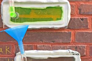 Test mit der Franke-Platte: Wasserverlust nach 15 Minuten zwischen 140 und 290 ml