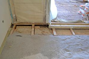 Bodenaufbau in Trockenbauweise mit Gipsfaserplatten