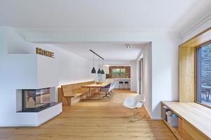 Familiengerecht: Aus kleinteiligen Räumen entstand eine Einheit aus Küche, Wohnzimmer und Esszimmer