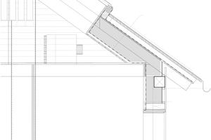 """Traufschnitt, Maßstab 1:20<span class=""""bildnachweis"""">Zeichnungen: Bernhard Breuer</span>"""