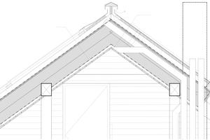 Schnitt Dachgeschoss, Maßstab 1:20