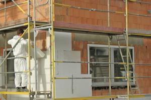 """Ein wichtiges Anwendungsgebiet für """"Slentex"""" ist die Außenwanddämmung im Neubau und in der Sanierung<span class=""""bildnachweis"""">Foto: Stadur Süd</span>"""