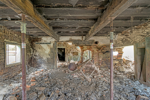 Blick ins Erdgeschoss vor Beginn der Umbauarbeiten