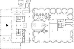 Grundriss Erdgeschoss, Maßstab 1:1000