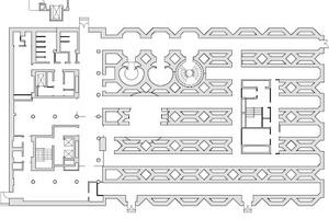 Grundriss Untergeschoss, Maßstab 1:1000