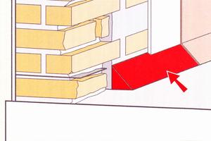 Im Übergang zwischen Wand und Boden verhindert der Hohlkehlenwinkel das Eindringen von Wasser