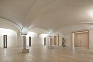 Von den wiederentdecken Kreuzgewölben musste nur ein Teilbereich nach historischem Vorbild ergänzt werden