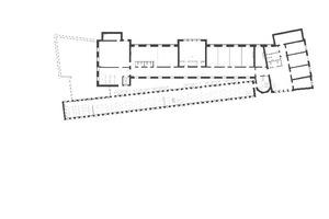 Grundriss Obergeschoss, Maßstab 1:800
