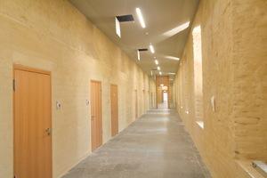 Der komplette Innenbereich wurden verputzt, das Mauerwerk verfugt und die Wände geschlämmt
