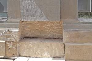 Schadhafter Sandstein
