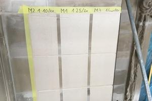 Anlage der Musterflächen für den Fassadenanstrich