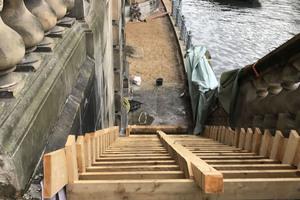 Eine Treppe wurde neu betoniert