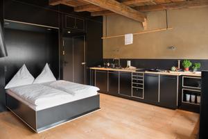 """Küche und Bett im """"K2"""""""