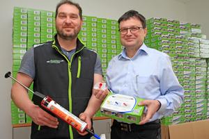 """Richard Klemke (links) und Ralf Stallmann haben das """"FugenTrio"""" entwickelt<span class=""""bildnachweis"""">Fotos: Thomas Schwarzmann</span>"""