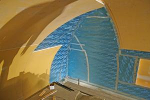 Auch die komplizierten Übergänge in den Gewölbeecken konnten mit den Spezialplatten problemlos radiusfolgend umgesetzt werden