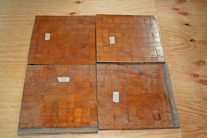 Ausgebautes, seltenes Tafelparkett aus Hirnholzklötzchen