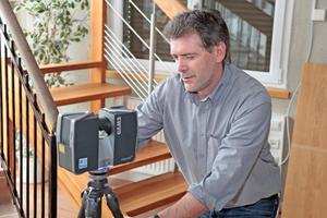Der Faro Laser Scanner sorgt für ein schnelles Aufmaß vor Ort für die optimale Einpassung