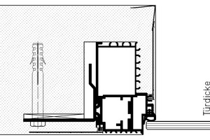 """Detailschnitt """"Zeroline glazing"""" (Türdicke 8 / 10 mm)<span class=""""bildnachweis"""">Zeichnungen: Schörghuber</span>"""