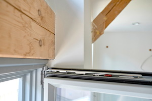 Detail: Fachwerk im Obergeschoss perfekt abgedichtet
