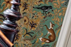 Eigene Kreationen einer Tapetenmalerei der Künstlerin Ingrid Canins<br />