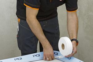 Schallschutzband zur Vermeidung von Schallbrücken als Montagehilfe
