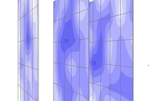 3D-Darstellung der Feuchteverteilung