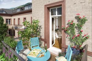 Fassadenvisualisierung mit neuen Balkonen