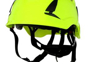 """Ein Beispiel für einen Helm mit Vier-PunktKinnriemen ist der neue """"3M SecureFit Schutzhelm X5000""""<br />Foto: 3M"""