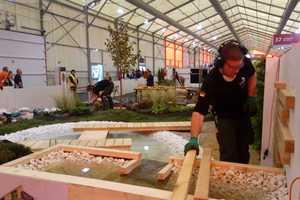 Diesen Garten haben die deutschen LandschaftsgärtnerJulian Maier und Niklas Stadlmayr in nur 22 Stunden errichtet