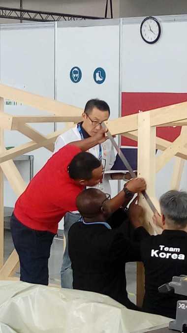 Eindrücke aus dem Wettbewerb der Zimmerer bei den World Skills 2019 in Kazan<br />