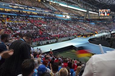 Das deutsche Team beim Einmarsch in die Arena
