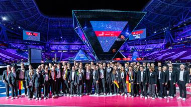 Das erfolgreiche deutsche Team nach der Siegerehrung<br />