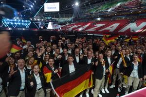 Das deutsche Team gibt sich nach der Eröffungsfeier siegesgewiss