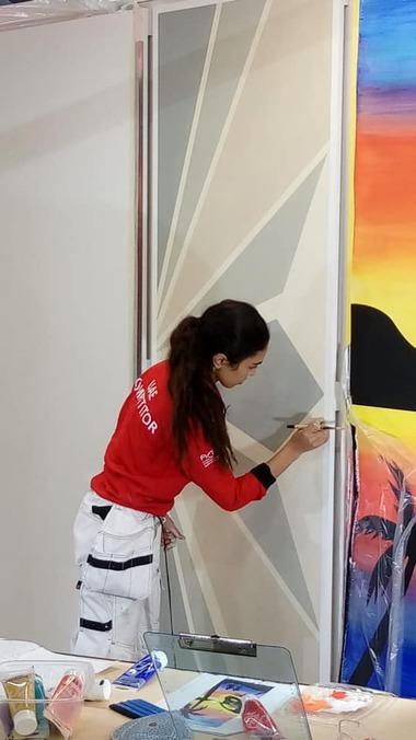 Teilnehmerin der World Skills 2019 in Kasan im Bereich Maler/Lackierer<br />